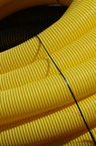 Pipeline yellow detail Royalty Free Stock Photos