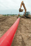 Pipelinekonstruktion Arkivfoto