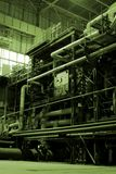Pipelines. Different size and shaped pipes at a power plant Royalty Free Stock Images