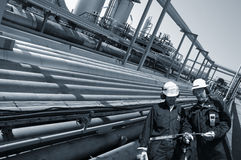 Pipelines and engineers Stock Image