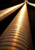 Pipelines in evening light Royalty Free Stock Images