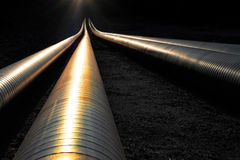 Pipelines in evening light Royalty Free Stock Image