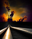 Pipelines and factory Stock Image