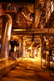 Pipelines on power plant. Pumps and pipes on power plant Stock Photography
