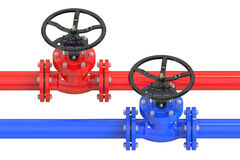 Pipelines with valves Royalty Free Stock Image