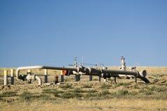 pipelinevalving Arkivfoto