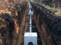 pipelinevatten Arkivbild
