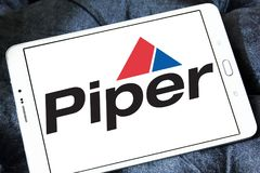Piper Aircraft-bedrijfembleem stock afbeelding