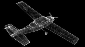 Piper Airplane pequena Imagem de Stock