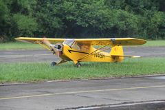 Piper Cub Airmodel stock photography