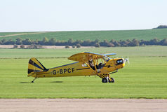 Piper Cub taxis for takeoff Royalty Free Stock Photo