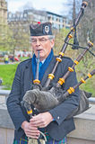 Piper in Edinburgh Stock Image