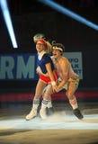 Piper GILLES / Paul POIRIER (CAN). PARIS - NOVEMBER 18: Piper GILLES / Paul POIRIER of Canada perform at the ISU Grand Prix Eric Bompard Trophy Gala on November Royalty Free Stock Image