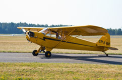 Piper J-3C-65 Cub on Radom Airshow, Poland Stock Images