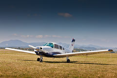 Piper PA-28-161 during Air Show Royalty Free Stock Photos