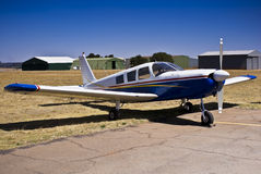 Piper PA-32 Cherokee Six Saratoga. A series of six or seven seat, light aircraft. Manufactured in the United States by Piper Aircraft between 1965 and 2007 royalty free stock photo