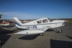 Piper PA-28 Cherokee. Piper PA-28 Cherokee is a U.S. private aircraft developed by Piper Aircraft Corporation. The prototype first flew on 14 January 1960 and Stock Photo