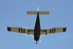 Piper PA28R Arrow on Final Approach Stock Photography