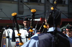The piper piping Stock Photography