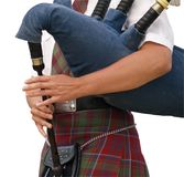 The Piper's Hands Royalty Free Stock Photography