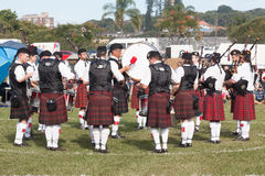 Piper Scottish Band Performance Stock Photo