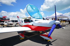 Piper sport aircraft at Singapore Airshow 2010 Stock Image