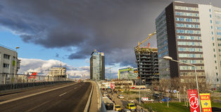 Pipera Overpass panorama in Bucharest Stock Images