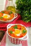 Piperade Basque do prato com pimentas e tomates Imagem de Stock