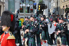 Pipers in Changing of Guard, Ottawa Royalty Free Stock Photos