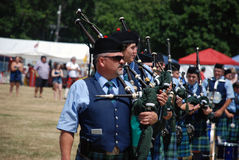 Pipers in Formation Royalty Free Stock Photos