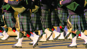 Pipers kilts Royalty Free Stock Images