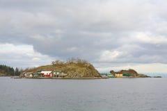 Pipers Lagoon Shacks, Nanaimo Royalty Free Stock Image