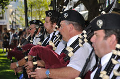 The pipers piping Stock Photography