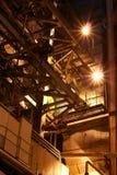 Pipes à l'intérieur d'usine Photos stock