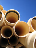 Pipes 1. Portrait photo of PVC pipes stock photo