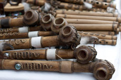 Pipes. For sale in market Stock Photo