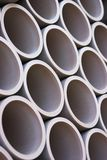 Pipes. Stacked construction pipes - shallow dof stock image