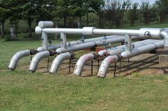 Pipes. Oil and gas pipes.grass Stock Photography