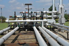 Pipes. Oil tanks and pipes. production Royalty Free Stock Photo
