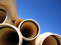 Pipes 2. Landscape photo of PVC pipes royalty free stock images