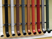 Pipes. The end of some pvc pipes Royalty Free Stock Images
