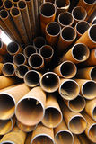 Pipes. Many rusty pipes of Russian factory 10 Royalty Free Stock Photo