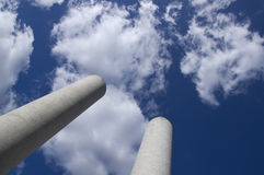 Pipes. Directed to the sky Stock Image