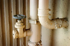 Pipes. Some pipes in a parking structure Royalty Free Stock Photos