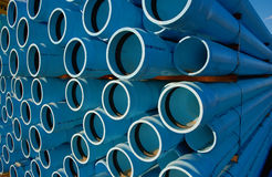 Pipes. Blue water pipes Royalty Free Stock Photography
