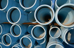 Pipes. Blue water pipes Stock Photography