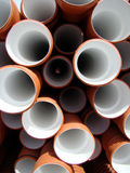 Pipes. Pile of drainage pipes in construction site Royalty Free Stock Photo