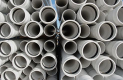 Pipes. White pipes Royalty Free Stock Photography