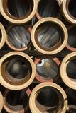 Pipes. Some waste water pipes at a building site Royalty Free Stock Photo