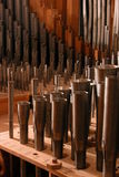 Pipes. Organ pipes Royalty Free Stock Photo